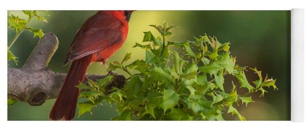 Summer Cardinal New Jersey Yoga Mat