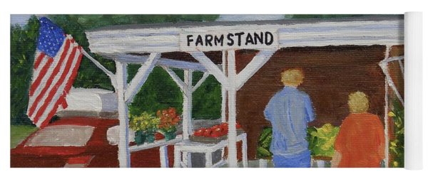 Summer Farm Stand Yoga Mat