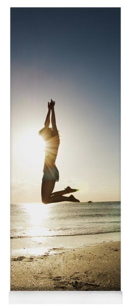 Summer Girl Summer Jump  Yoga Mat