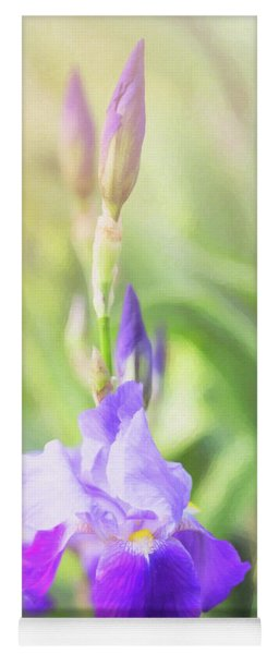 Yoga Mat featuring the photograph Summer Iris by Sue Collura