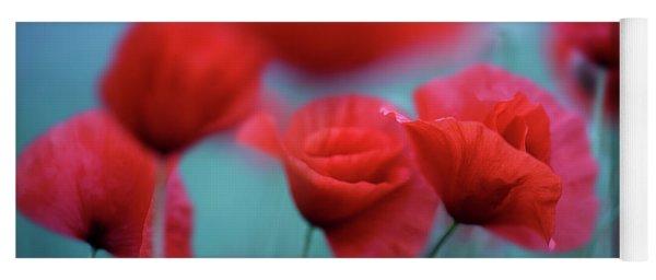 Summer Poppy Meadow 3 Yoga Mat