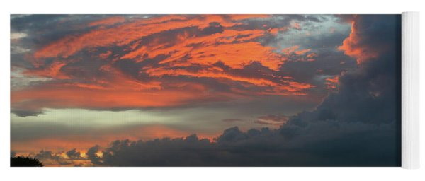 Summer Sky On Fire  Yoga Mat