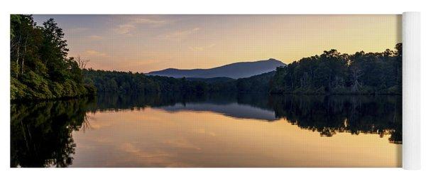 Price Lake Sunset - Blue Ridge Parkway Yoga Mat