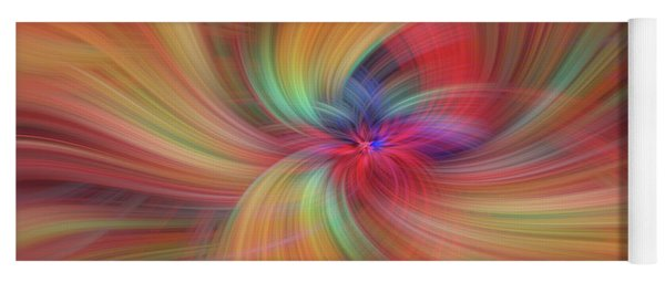Summer Solstice. Orange Yellow Red Abstract Yoga Mat