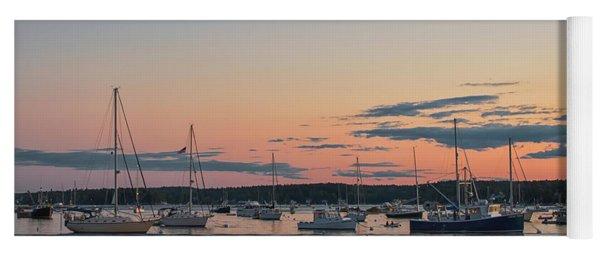Summer Sunset In Boothbay Harbor Yoga Mat
