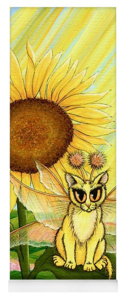 Summer Sunshine Fairy Cat Yoga Mat