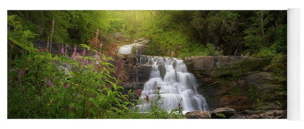 Yoga Mat featuring the photograph Summer Waterfall by Bill Wakeley