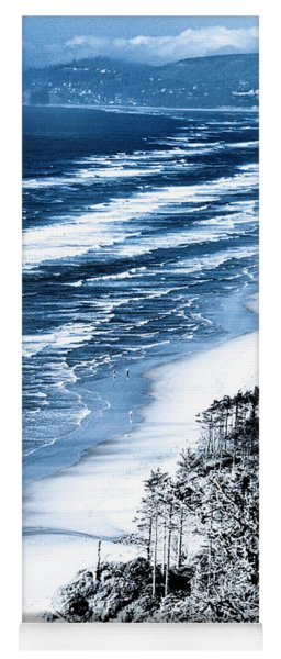 Summer Waves Cape Lookout Oregon Coast Yoga Mat