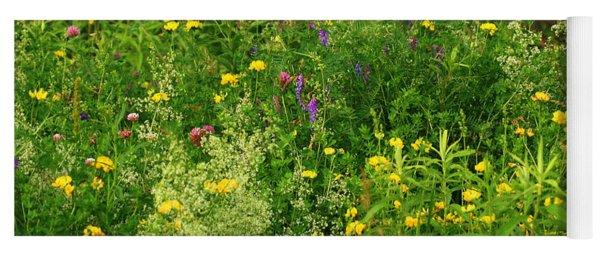 Summer Wildflowers Yoga Mat