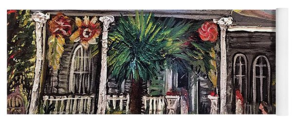 Yoga Mat featuring the painting Summertime New Orleans by Amzie Adams