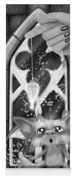 Summoned Pet - Black And White Fantasy Art Yoga Mat