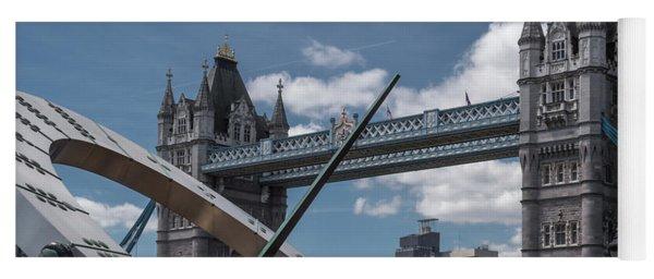 Sun Clock With Tower Bridge Yoga Mat