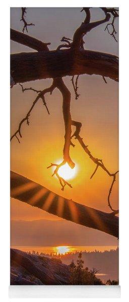 Sun Ornament - Cropped Yoga Mat