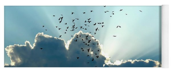 Sun Ray Aerobatics Blue Sky Yoga Mat