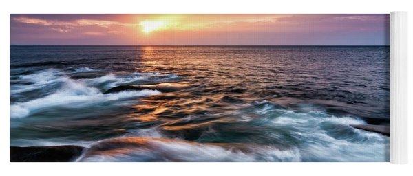 Sun Rays, Halibut Pt. Rockport Ma. Yoga Mat