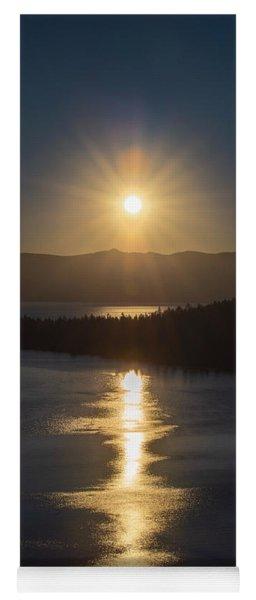 Sun Rising Over Lake Tahoe Yoga Mat