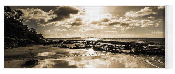 Sun Sand And Sea Reflection Yoga Mat