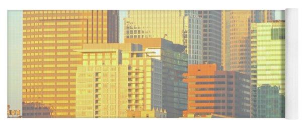 Sun Sets On Downtown Los Angeles Buildings #2 Yoga Mat