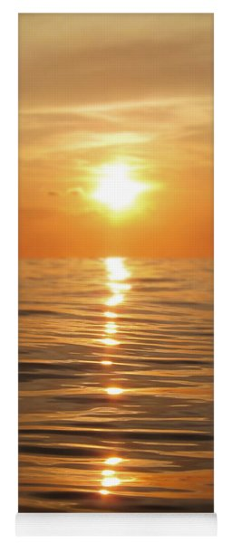 Sun Setting Over Calm Waters Yoga Mat
