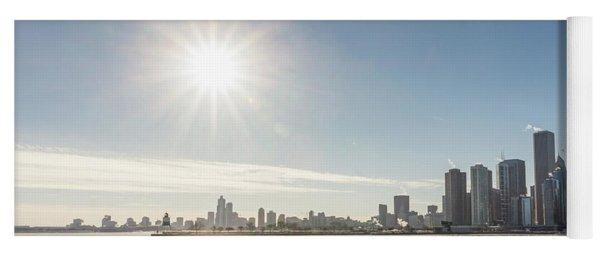 Sun Setting Over Chicago Yoga Mat