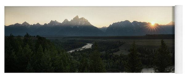 Sun Setting Over The Teton Range Yoga Mat