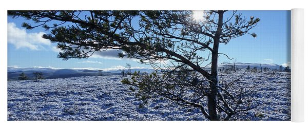 Sun, Snow And Ice - Hills Of Cromdale Yoga Mat