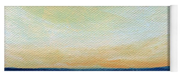 Sun Swept Coast- Abstract Seascape Yoga Mat