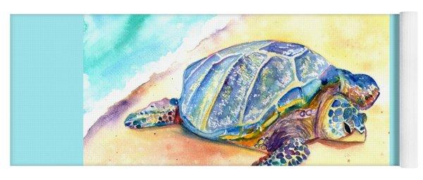 Sunbathing Turtle Yoga Mat