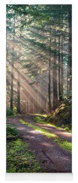 Sunbeam In Trees Portrait Yoga Mat