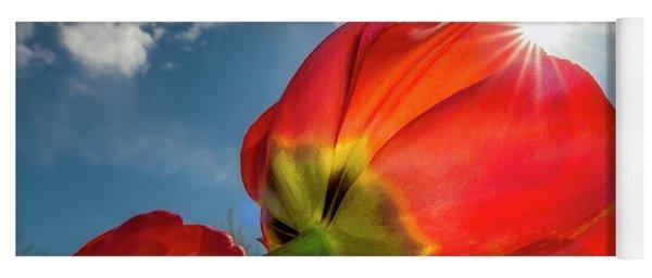 Sunbeams And Tulips Yoga Mat