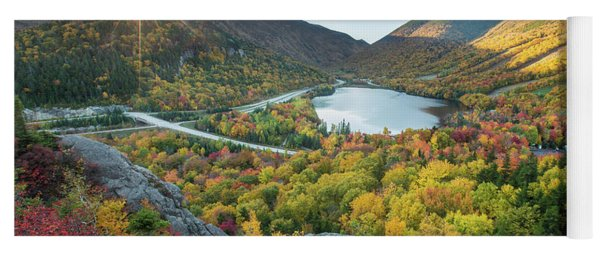 Sunburst Over Franconia Notch Yoga Mat