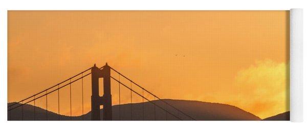 Sundown At The Golden Gate Yoga Mat