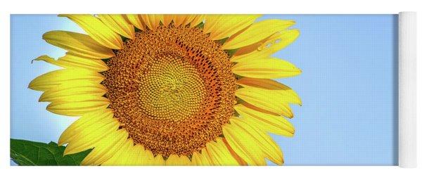 Sunflower And Sky Yoga Mat