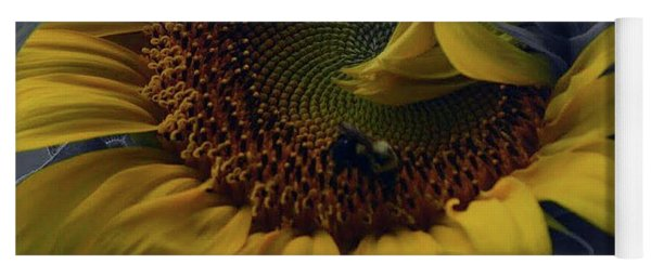 Yoga Mat featuring the photograph Sunflower Bee by Richard Ricci