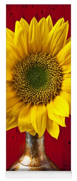Sunflower Close Up Yoga Mat
