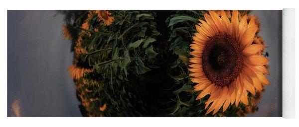 Sunflower Field Little Planet  Yoga Mat