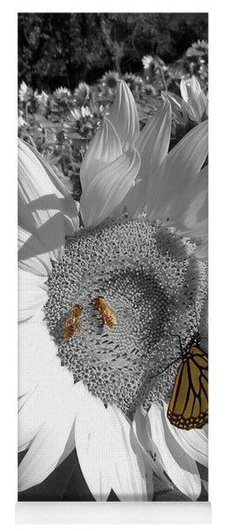 Sunflower In Black And White Yoga Mat