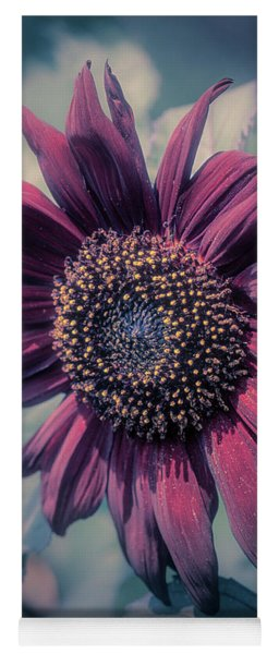 Sunflower In Red Yoga Mat