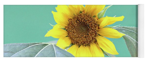 Sunflower In The Summer Time Yoga Mat