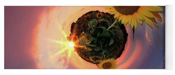 Sunflower Little Planet  Yoga Mat