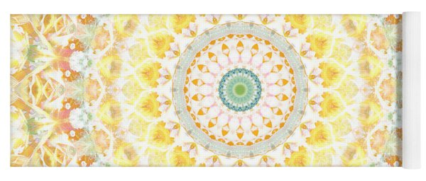 Sunflower Mandala- Abstract Art By Linda Woods Yoga Mat