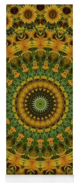 Sunflower Mandala Yoga Mat