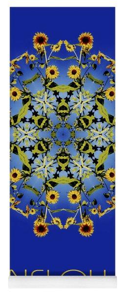 Sunflower Mandala Yoga Mat
