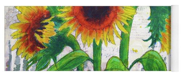 Sunflower Sonata Yoga Mat