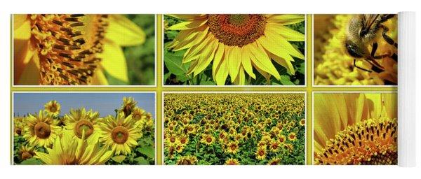 Sunflower Story - Collage Yoga Mat