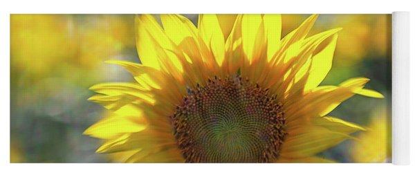 Sunflower With Lens Flare Yoga Mat