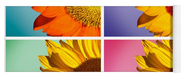 Sunflowers Collage Yoga Mat