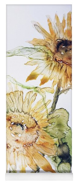 Sunflowers II Uncropped Yoga Mat