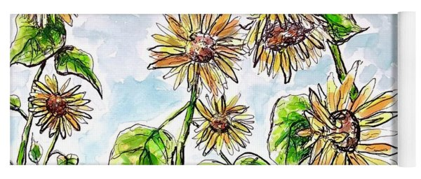 Sunflowers Yoga Mat