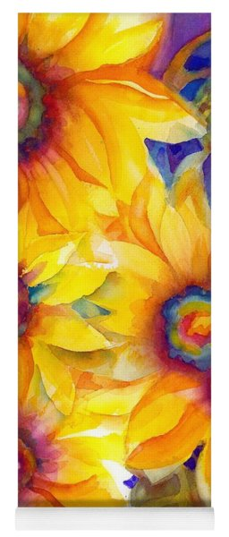 Sunflowers On Blue II Yoga Mat